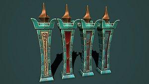 Fantasy obelisk 3 3D model
