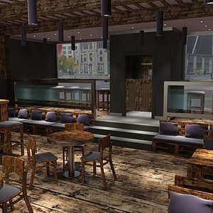 Beer music pub 3D model