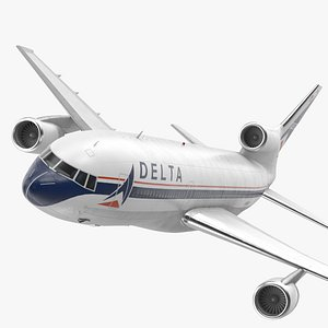 3D Delta Air Lines Lockheed L-1011 TriStar Flight model