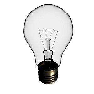 incandescent bulb 3D model
