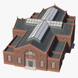 3D model ready old industrial building