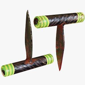 Lowpoly Prison Knife 3D model