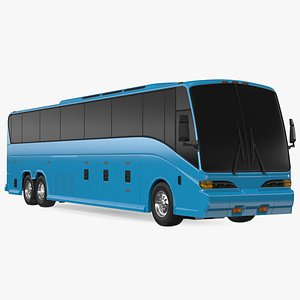 Charter Bus Exterior Only 3D model