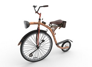 steampunk bicycle 3D model