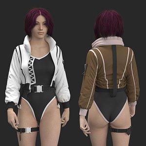 3D Female Jacket Marvelous Designer project