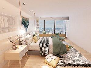 Master bedroom 3D model