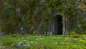 Fantasy Forest GateWay Landscape 3D
