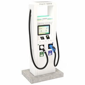 3D Electric Vehicle Charging Station Electrify America Part 1