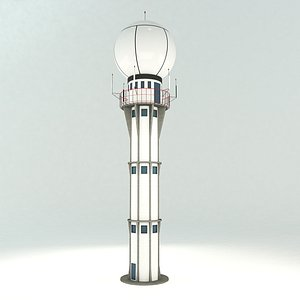 3D model weather radar tower