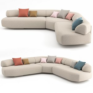 3D moroso sofa gogan model