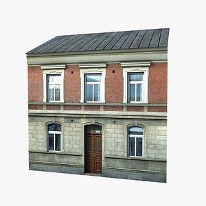 3D street building facade model