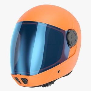 Orange Skydiving Helmet 3D model