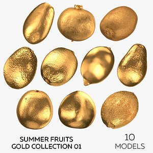 Summer Fruits Gold Collection 01 - 10 3D model
