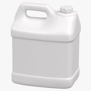 Plastic F Style Bottle 2 Gallon With Child Resistant Cap 3D model
