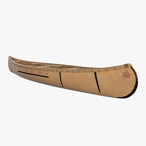 Traditional Canoe 3D