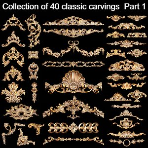 3D 40 classic carvings 1 model