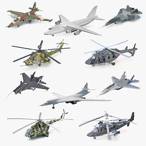 3D Russian Military Aircrafts Collection 3 model