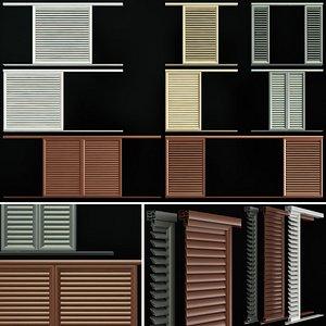 3D louvre screens windows doors