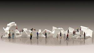 3D Art Gallery Stand Design model