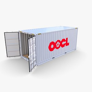 3D 20ft Shipping Container OOCL