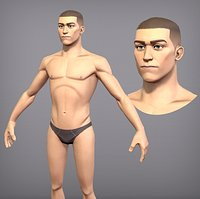 Game ready male character Titus