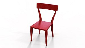 red wonky chair 3D