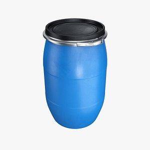 barrel plastic lid 3D model