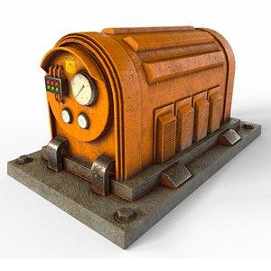 3D electrical generator industrial model