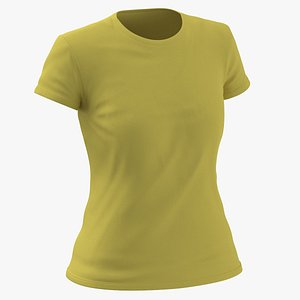 Female Crew Neck Worn Yellow(1)