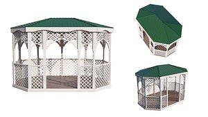 3D architectural gazebo model
