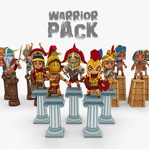 3D model Warrior Pack Three Tribes