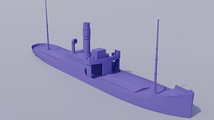 ship steamboat vehicle 3D