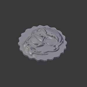 monkey face coin 3D