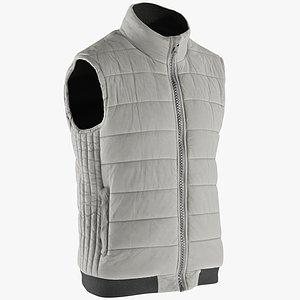 realistic men s vest 3D model