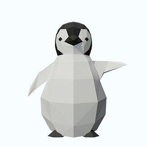 3D model 3D LowPoly Baby Penguin 3D