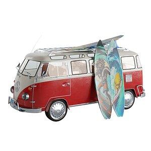 3D surf truck model