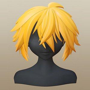 3D hair character girl model