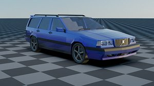 3D Volvo 850 Estate Low-poly Rigged