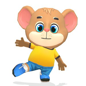 3D model mouse rat rodent character games