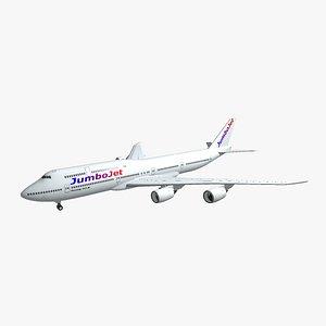 3D boeing 747-8i model