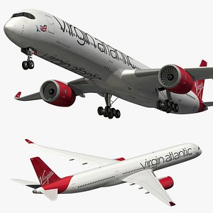 airbus a350 virgin 3D model