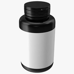 Blank Plastic Bottle Tablets model