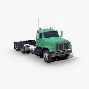 International 2574 semi truck 3D model