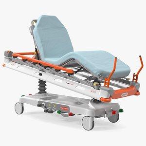 Linet Sprint 100 Transport Bed Rigged 3D model