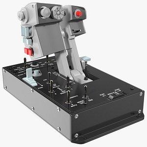 Dual Throttles Game Controller 3D model
