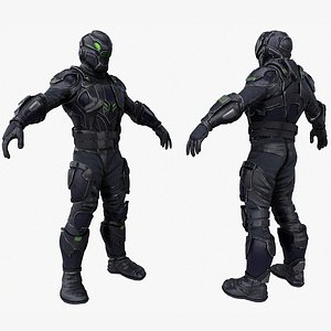 3D spy covert ops soldier character