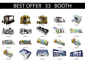Booth Exhibition Stand X4 3D model