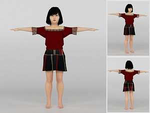 3D model Chienese Girl