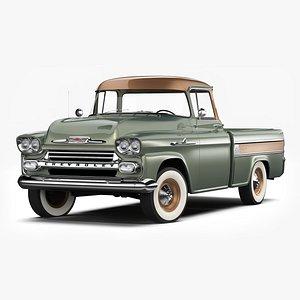 3D Chevrolet Apache Cameo 1958