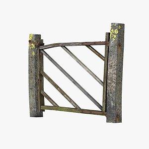old wood gate 3d model